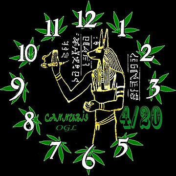 Cannubis tick tock 420 clock by OasisGold