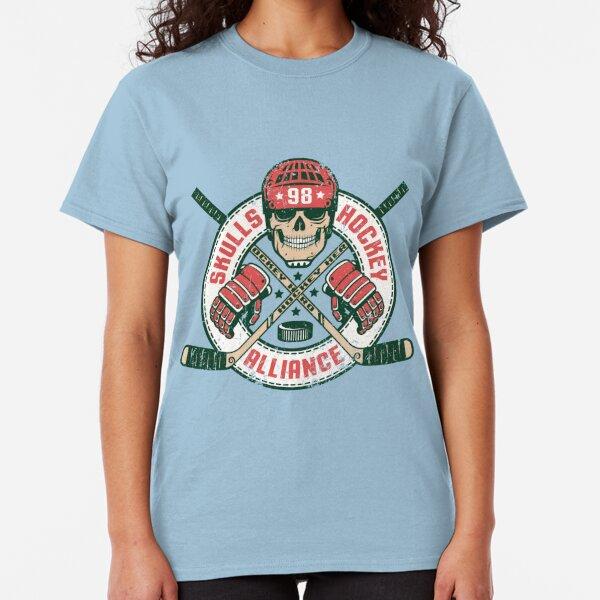 Hockey emblem with skull Classic T-Shirt