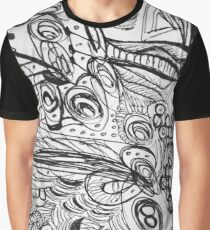 Black & White Ink Doodle Graphic T-Shirt
