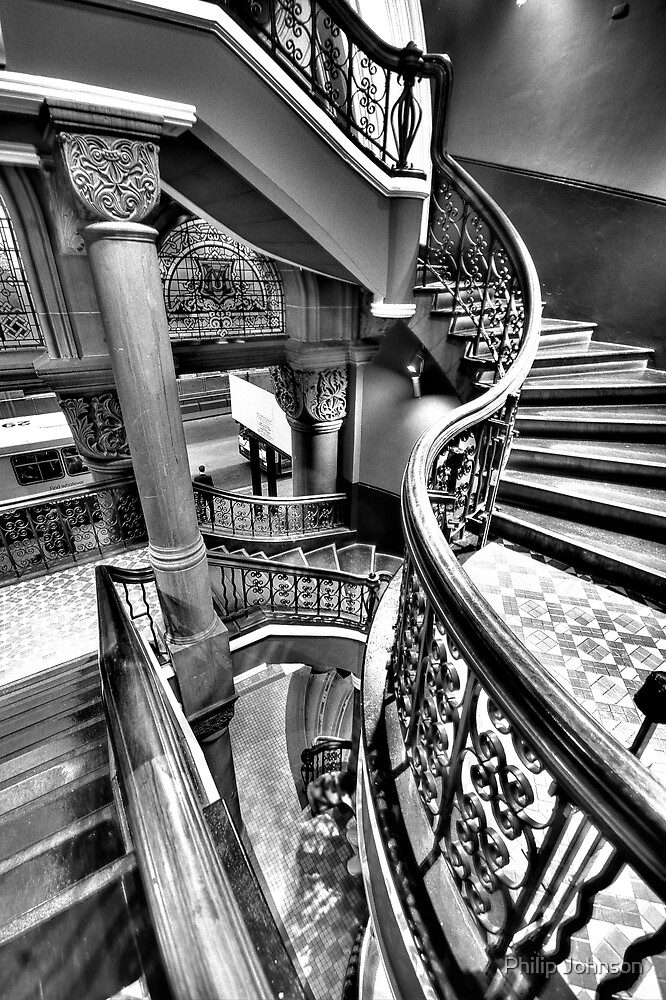 Off The Rails - QVB , Sydney (Monochrome) - The HDR Experience by Philip Johnson