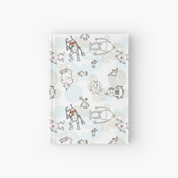 Robots and gears Hardcover Journal