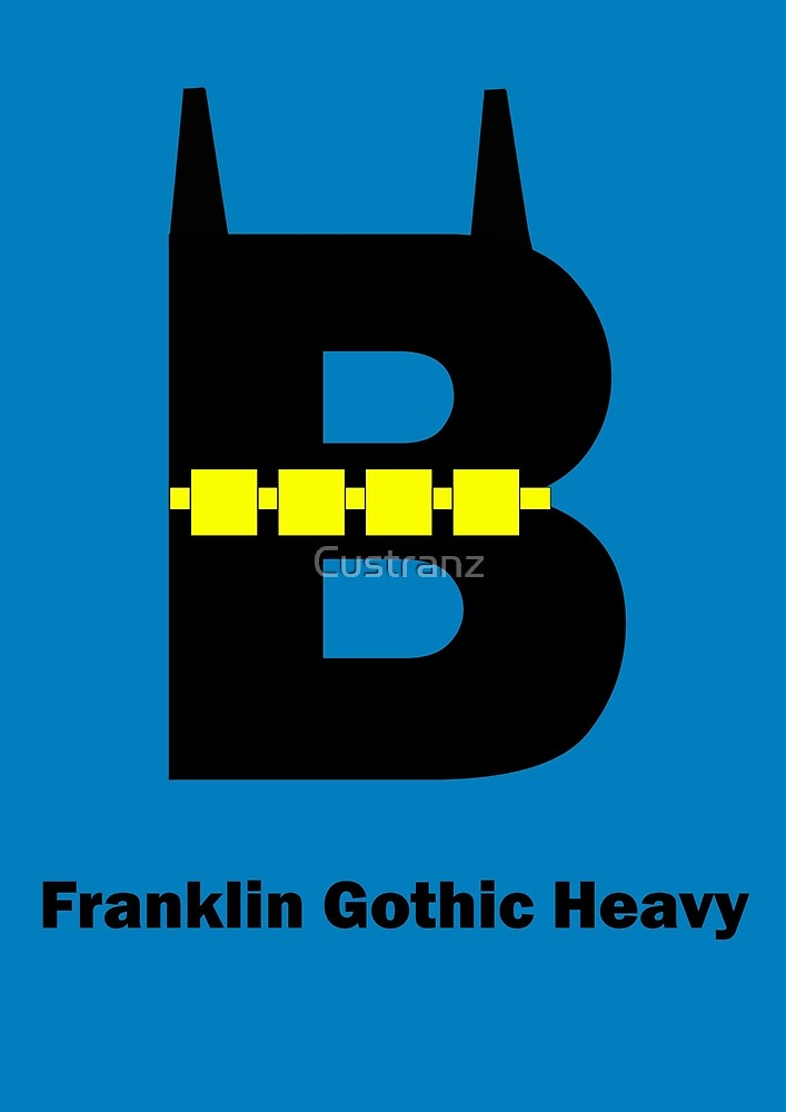 Franklin Gothic Heavy Font Iconic Charactography - B