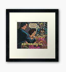 Retro comics Framed Print
