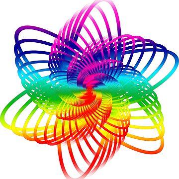 Rainbow Science Flower by bektrent