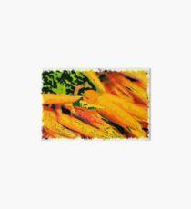 Colorful carrots drawn Art Art Board