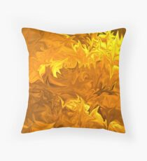 GoldAbstract1 Throw Pillow