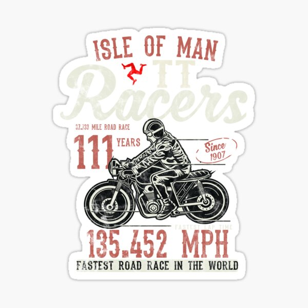 Isle Of Man TT Races Top Speed Racing 3 Legs Of Man Manx Flag Sticker