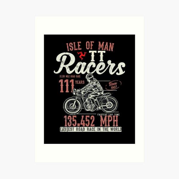 Isle Of Man TT Races Top Speed Racing 3 Legs Of Man Manx Flag Art Print