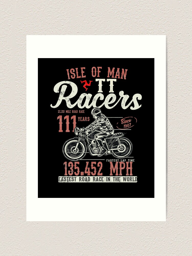 Alternate view of Isle Of Man TT Races Top Speed Racing 3 Legs Of Man Manx Flag Art Print