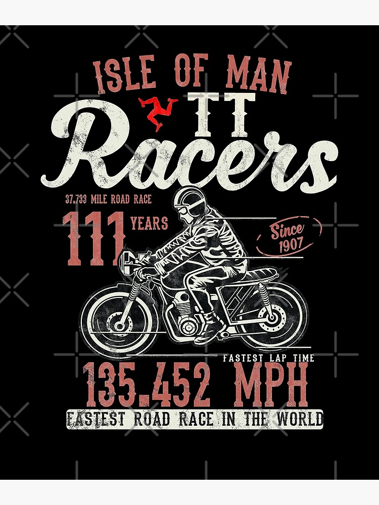 Isle Of Man TT Races Top Speed Racing 3 Legs Of Man Manx Flag by thespottydogg