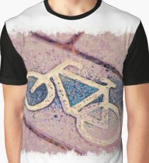 Cycle path drawn Art Graphic T-Shirt