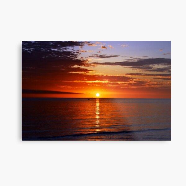Sunset On Brighton Beach - SA Australia Metal Print