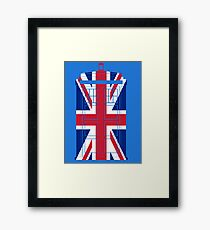 Tardish Flag Framed Print