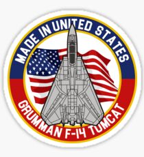 Grumman F-14 Tomcat - Made in USA Sticker