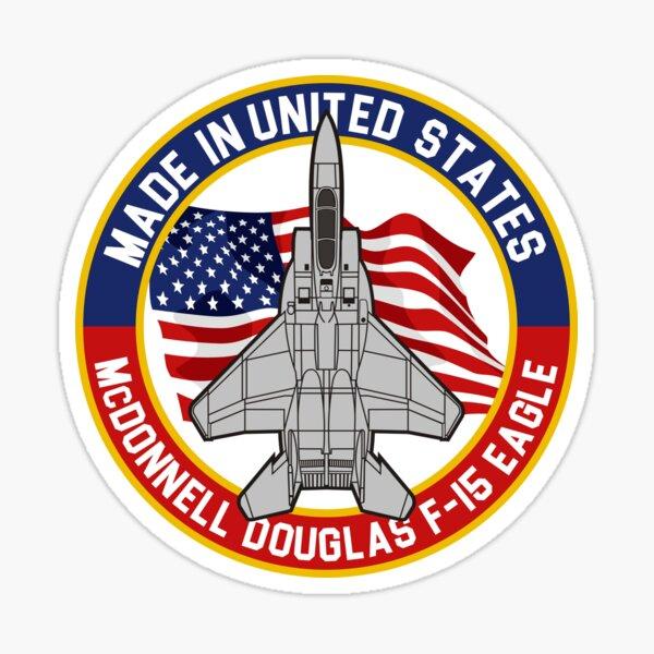 McDonnell Douglas F-15 Eagle - Made in USA Sticker