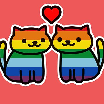 Neko Atsume Gay Pride Merch by Elisecv