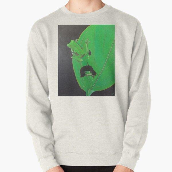 Frogs on Leaf Pullover Sweatshirt