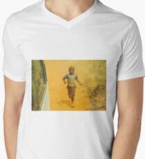 RUNNING KID Camiseta para hombre de cuello en v