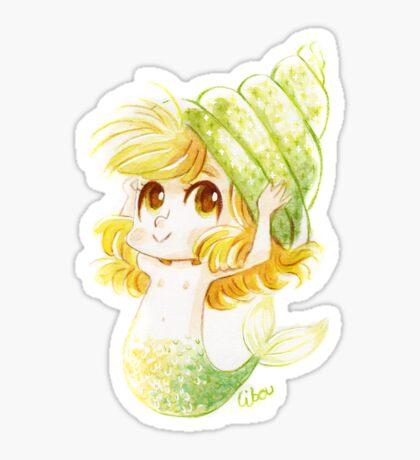 Chibi sirène coquillage Sticker