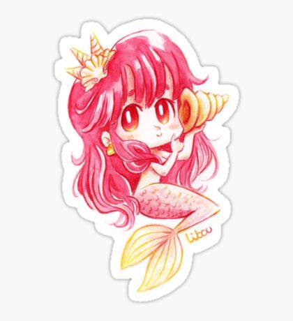 Chibi sirène rose Sticker
