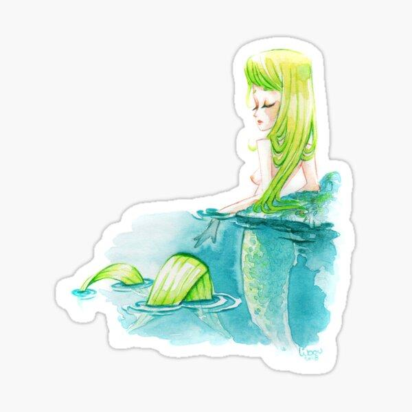 Petite sirène aquarelle Sticker