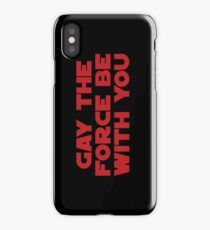 Gay the Force (red, bold) iPhone Case
