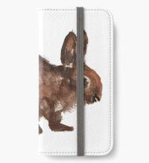 Rabbit watercolour iPhone Wallet/Case/Skin