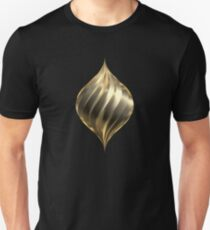 Rotating drop of gold Unisex T-Shirt