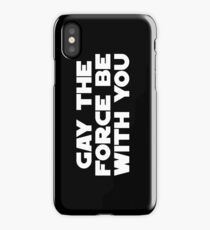 Gay the Force (white, bold) iPhone Case