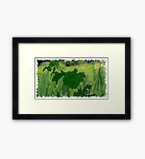 Flower drawn Art Framed Print