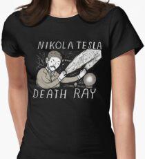 nikola tesla death ray Women's Fitted T-Shirt
