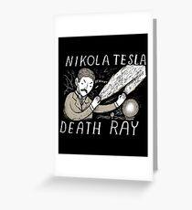 nikola tesla death ray Greeting Card