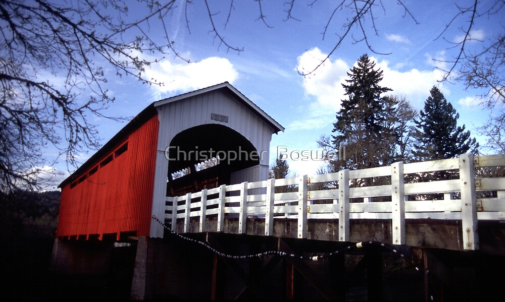 Currin Covered Bridge by Christopher  Boswell
