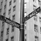 Wall Street and Broadway by Michael Humphrys