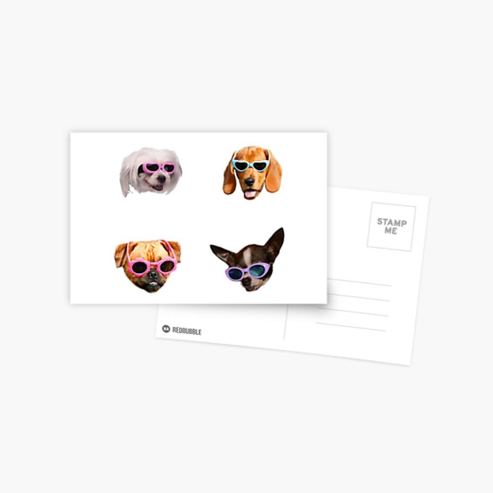 Pegatinas Doggo: Gafas De Sol # 4 Postal
