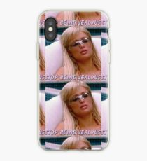 stop being jealous iPhone Case