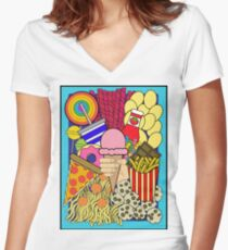 Candy Shop Women's Fitted V-Neck T-Shirt
