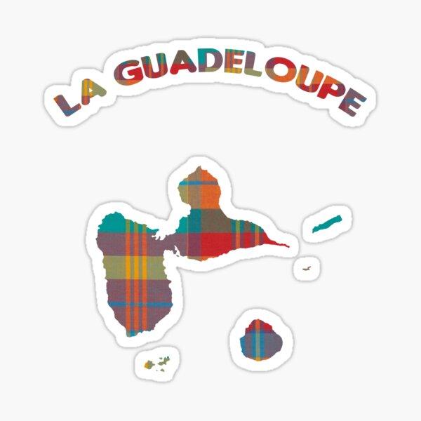 La Guadeloupe - madras Sticker
