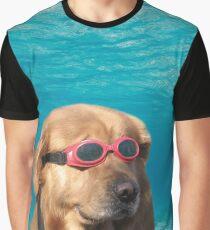 Schwimmer Hund Grafik T-Shirt