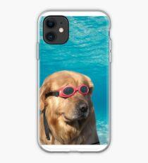 Swimmer Dog iPhone Case
