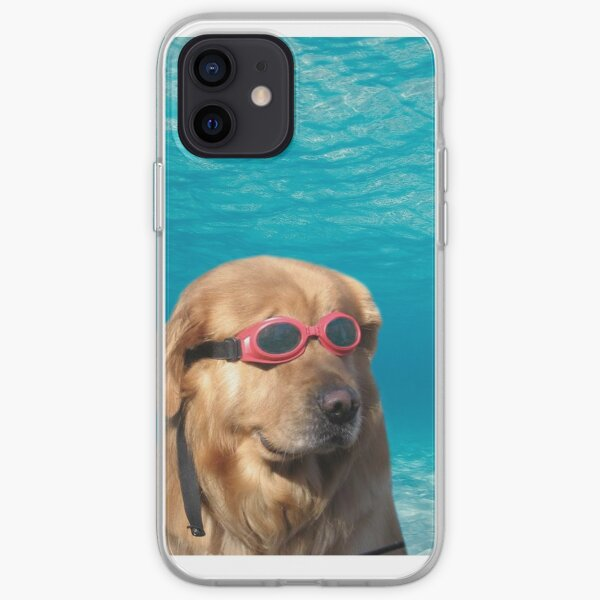 Swimmer Dog iPhone Soft Case