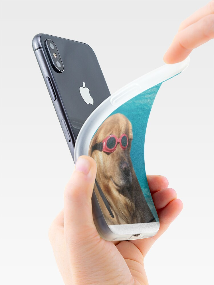 Alternate view of Swimmer Dog iPhone Case & Cover