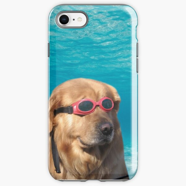 Swimmer Dog iPhone Tough Case