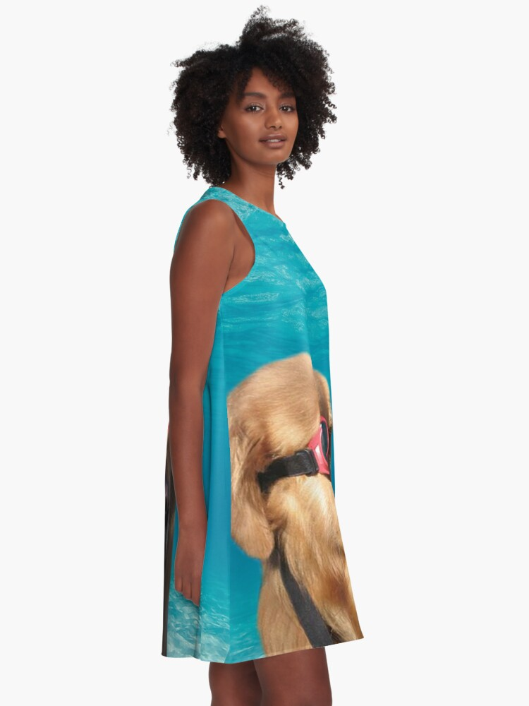 Alternate view of Swimmer Dog A-Line Dress