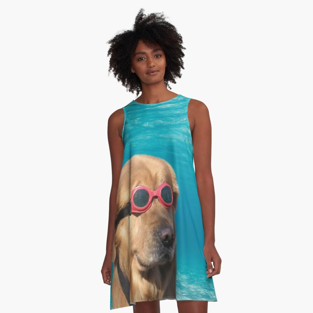 Swimmer Dog A-Line Dress