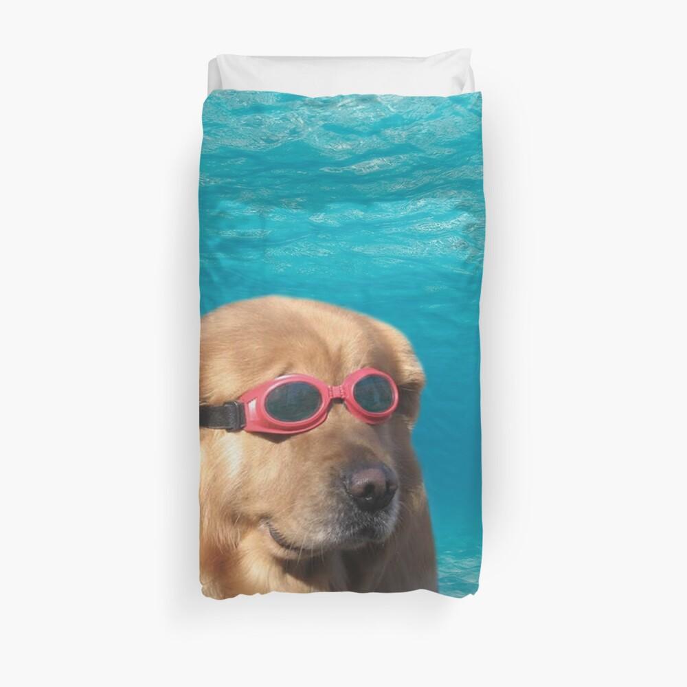 Swimmer Dog Duvet Cover