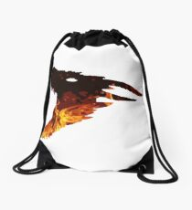 fire dragon  Drawstring Bag