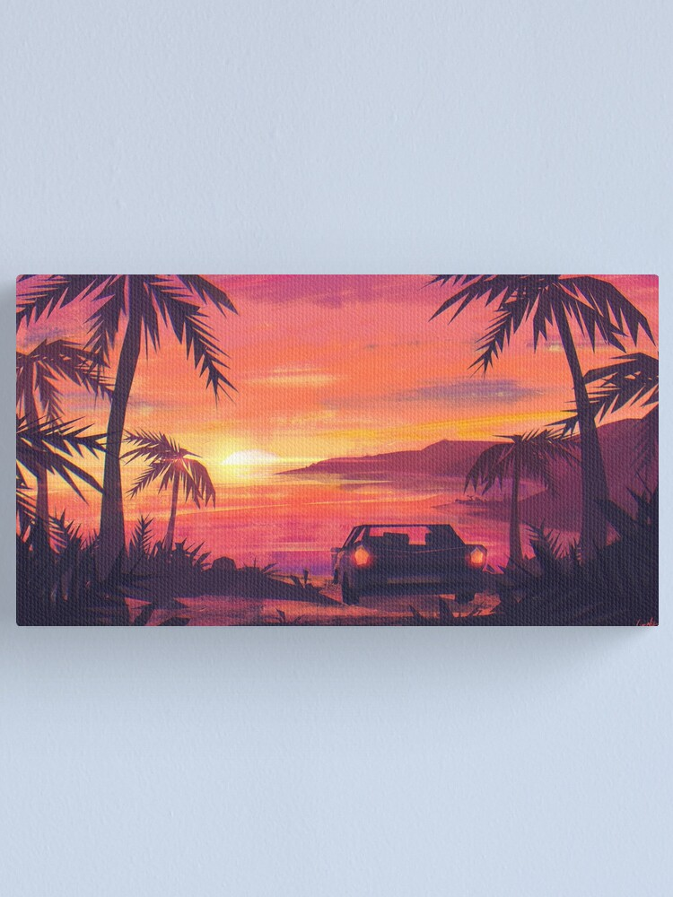 Alternate view of Tropical Sunset Canvas Print