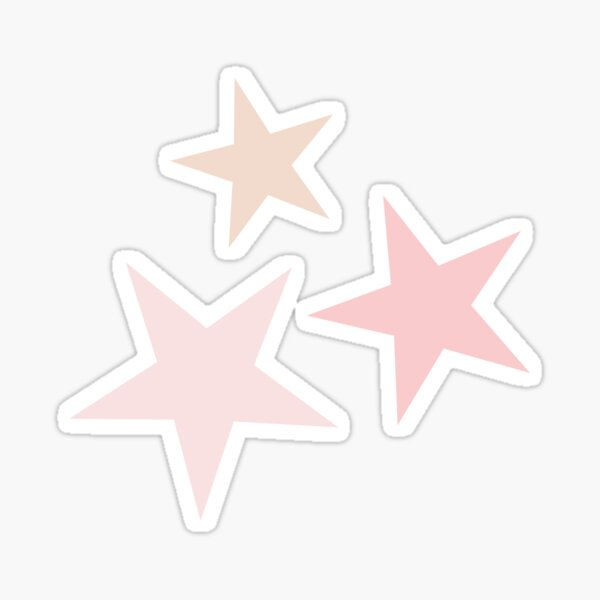 Star Set in Pink Sticker