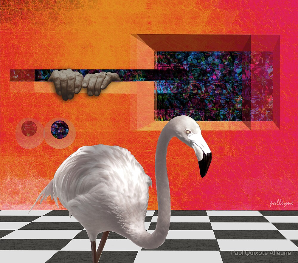 THE RED PORTAL with ALBINO BIRD by Paul Quixote Alleyne